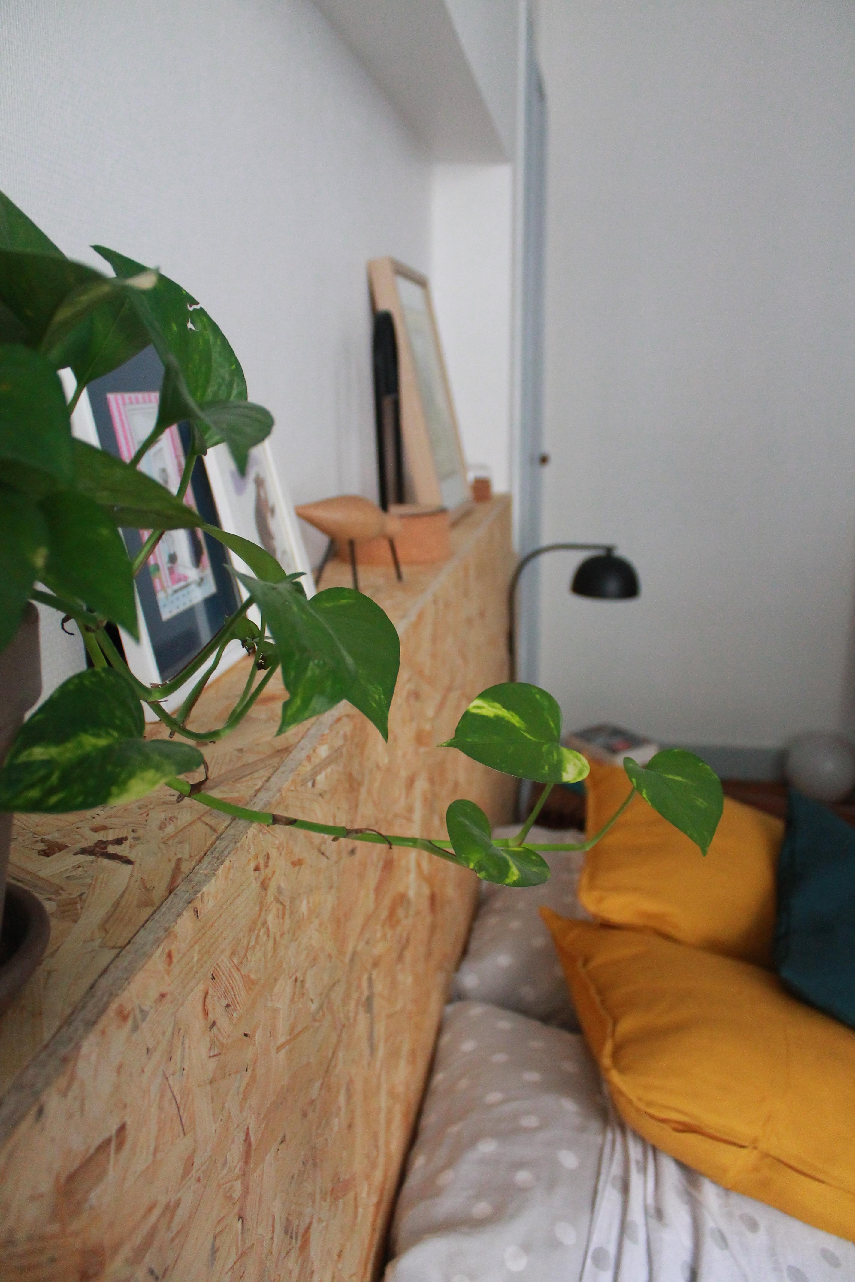 Planche Pour Tete De Lit avant/après : une tête de lit diy en osb | wellsat